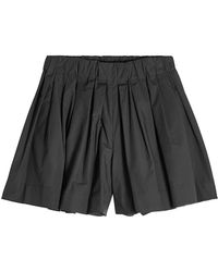 Marc Jacobs - Pleated Shorts With Cotton - Lyst