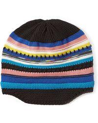 c351dd5e885 Missoni - Wool Striped Knit Beanie - Lyst