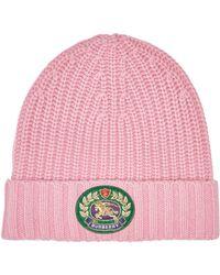 ab40d40f416 Lyst - Burberry Cotton Gabardine Rain Hat in Natural for Men