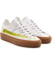 OAMC - Patch Leather Sneakers - Lyst