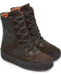 Yeezy | Suede Boots With Mesh | Lyst