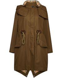 Burberry Cotton Polzeath Coat - Green