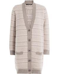 Agnona - Cashmere Textured Knit Cardigan - Lyst