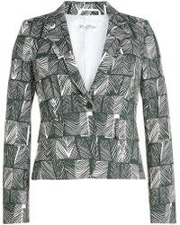 Max Mara - Printed Cotton Blazer - Lyst