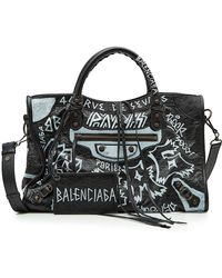 Balenciaga - City Graffiti Leather Tote - Lyst