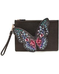 Sophia Webster - Flossy Embroidered Leather Butterfly Pouchette - Lyst