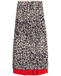 N°21 - Leopard Print Pleated Skirt - Lyst