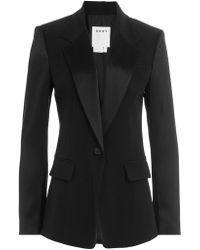 DKNY - Tailored Blazer With Satin - Lyst