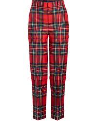 Balenciaga - Zipped Virgin Wool Trousers - Lyst