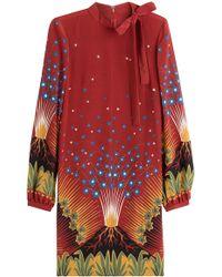 Valentino - Volcano Silk Crepe Dress - Lyst