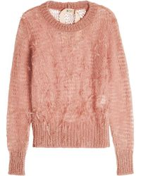 N°21 - Knit Pullover With Ostrich Feathers - Lyst
