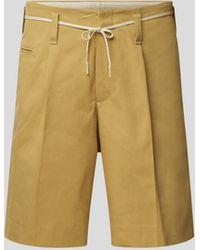 Marni Chino-Shorts mit Gürtel - Gelb