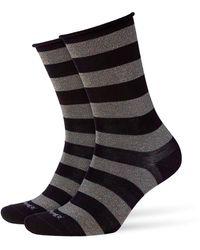 Smythson - Metallic Striped Socks - Lyst