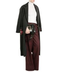 Anya Hindmarch | Space Invaders Coat With Virgin Wool, Mohair And Alpaca | Lyst