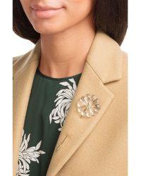 Simone Rocha - Transparent & Gold Flower Brooch - Lyst