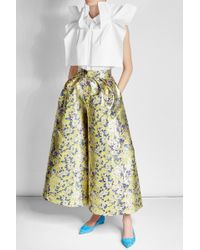 Delpozo - Printed Wide Leg Pants With Silk - Lyst