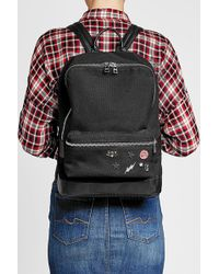 Zadig & Voltaire - Embellished Fabric Backpack With Leather - Lyst