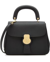 Burberry - Small Dk88 Top Handle Leather Satchel - Lyst