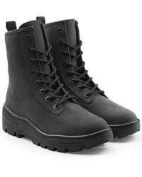 Yeezy   Nubuck Military Boots   Lyst