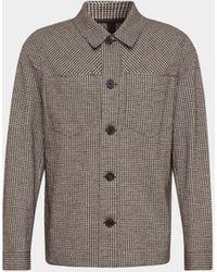 Harris Wharf London Jacke mit Allover-Muster - Grau