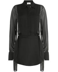 DKNY - Sheer Panel Blouse - Lyst