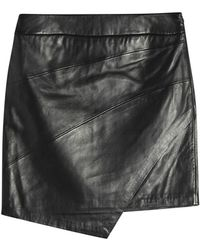 Zadig & Voltaire - Just Leather Mini Skirt - Lyst