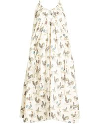 Carven - Rooster Print Dress - Lyst