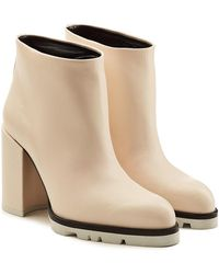 Jil Sander - Leather Ankle Boots - Lyst