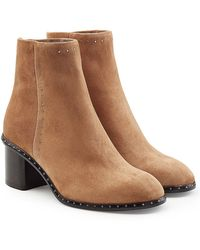 Rag & Bone - Willow Embellished Suede Ankle Boots - Lyst