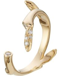 Sophie Bille Brahe | Fleur Marriage 18kt Gold Ring With White Diamonds | Lyst