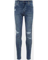 Ksubi Jeans im Destroyed-Look - Blau