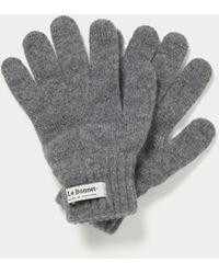 Le Bonnet Handschuhe aus Wolle - Grau