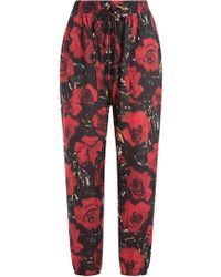 Anna Sui - Floral Harem Trousers - Lyst