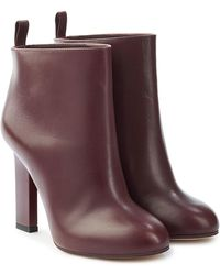 Victoria Beckham - Rise Leather Ankle Boots - Lyst