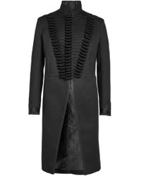 Alexander McQueen - Military Coat With Cotton And Silk - Lyst