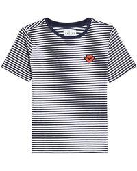 Velvet - Rain Striped T-shirt - Lyst