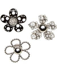 Marc Jacobs - Daisy Polka Dot Embellished Brooch Set - Lyst