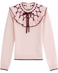ROKSANDA - Wool-cashmere Pullover With Ruffles - Lyst