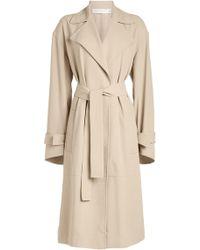 Victoria Beckham - Wrap Sleeve Fluid Trench Coat - Lyst