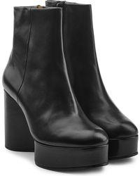 Robert Clergerie - Belen Leather Platform Boots - Lyst