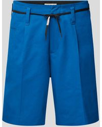 Marni Chino-Shorts mit Gürtel - Blau