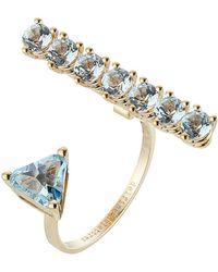 Delfina Delettrez | 9kt Yellow Gold Ring With Topaz | Lyst