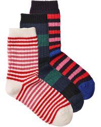 Sonia Rykiel - 3 Pack Of Virgin Wool Socks - Lyst