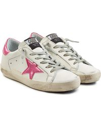 Golden Goose Deluxe Brand - Super Star Leather Sneakers - Lyst