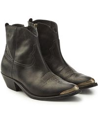 Golden Goose Deluxe Brand - Young Leather Ankle Boots - Lyst