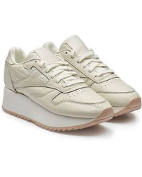 Reebok - Classic Leather Double Platform Trainers - Lyst