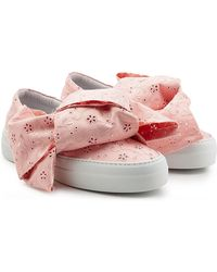 Joshua Sanders - Platform Slip On Trainers With Embroidered Fabric - Lyst