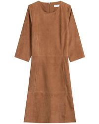 Closed - Suede Dress - Lyst