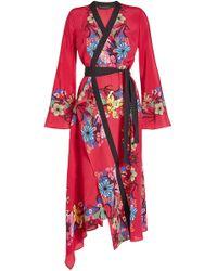 Etro - Fluorite Silk Chiffon Dress - Lyst