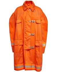 CALVIN KLEIN 205W39NYC - Fireman Coat With Cotton - Lyst